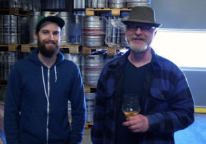 Garrett and Ron giving the finer points on barrel aging and head wear.