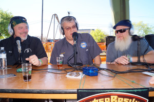 Alan Ward from Brigadoon Brewery and Brew School, Scott Birdwell from Defalco's Home Brewing and Jon Denman host of Drink of Ages