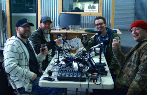 Jeremy, Josh, Ponch and Josh at Brazos Valley Brewing Company. If you huddle up close enough, it's never too cold for beer and podcasting.